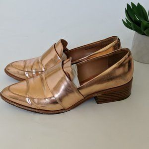 3.1 PHILIP LIM Rose Gold Quinn Loafer Shoes 36